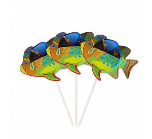 Feestprikkers Tropische Vissen - 8 stuks