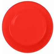 Wegwerp Bordjes Rood - 8 stuks