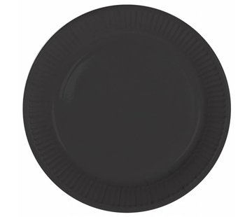 Wegwerp Bordjes Zwart - 8 stuks