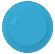 Wegwerp Bordjes Blauw - 8 stuks