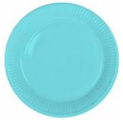 Wegwerp Bordjes Babyblauw - 8 stuks