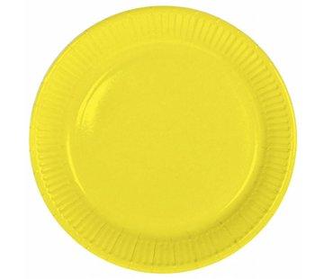 Wegwerp Bordjes Geel - 8 stuks