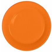 Wegwerp Bordjes Oranje - 8 stuks