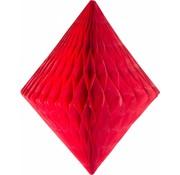 Honeycomb Diamant Rood - per stuk