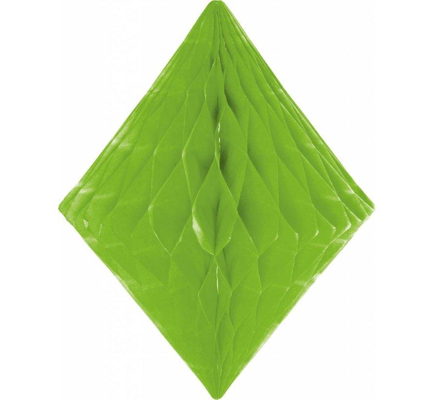 Honeycomb Diamant Lime Groen - per stuk