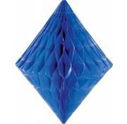 Honeycomb Diamant Blauw  30 cm - per stuk
