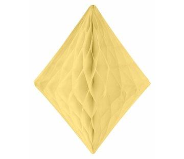 Honeycomb Diamant Ivoor/Geel 30 cm - per stuk