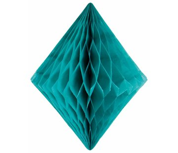 Honeycomb Diamant Turquoise 30 cm - per stuk