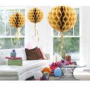 Honeycomb Bal Goud - per stuk