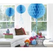 Honeycomb Bal Baby Blauw  30 cm - per stuk