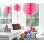 Honeycomb Bal Baby Roze 30cm - per stuk