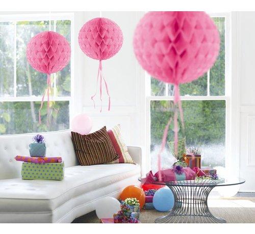 Honeycomb Bal Baby Roze 30 cm - per stuk