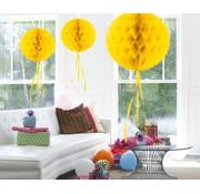 Honeycomb Bal Geel 30 cm - per stuk