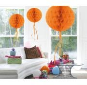 Honeycomb Bal Oranje - per stuk