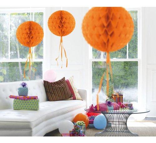 Honeycomb Bal Oranje 30 cm - per stuk