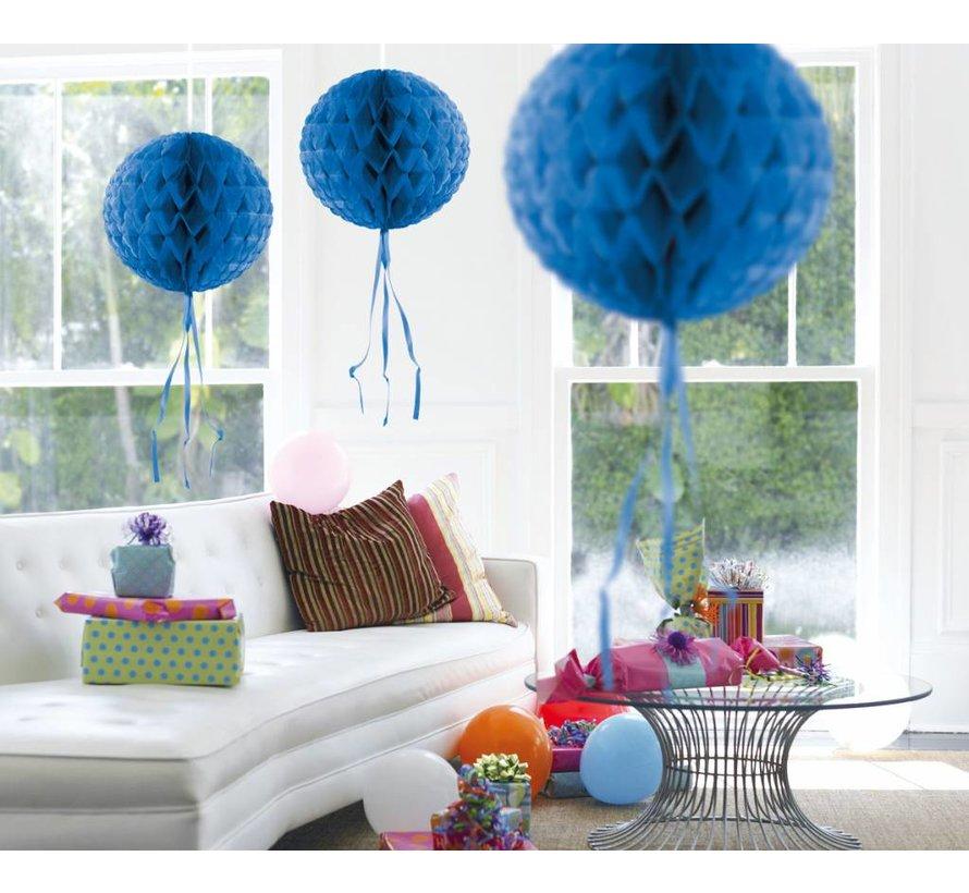Honeycomb Bal Blauw 30 cm - per stuk