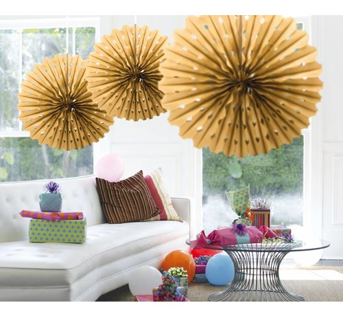 Honeycomb Fan Goud 45 cm - per stuk