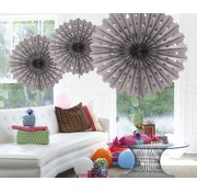 Honeycomb Fan Zilver 45 cm - per stuk