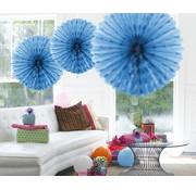 Honeycomb Fan Baby Blauw 45 cm - per stuk