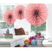 Honeycomb Fan Baby Roze 45 cm - per stuk