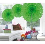 Honeycomb Fan Lime Groen - per stuk