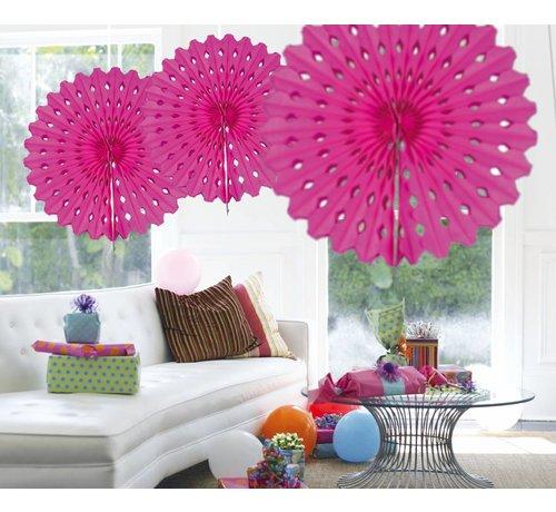 Honeycomb Fan Magenta 45 cm - per stuk