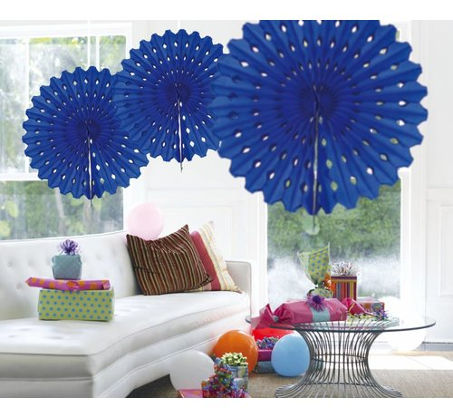 Honeycomb Fan Blauw 45 cm - per stuk
