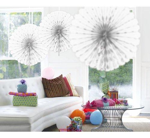 Honeycomb Fan Wit 45 cm - per stuk