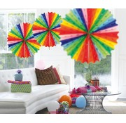 Honeycomb Fan Multicolor 45 cm - per stuk