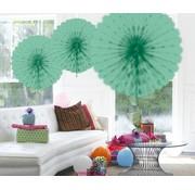 Honeycomb Fan Mint Groen 45 cm - per stuk