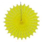 Honeycomb Fan Geel 45 cm - per stuk