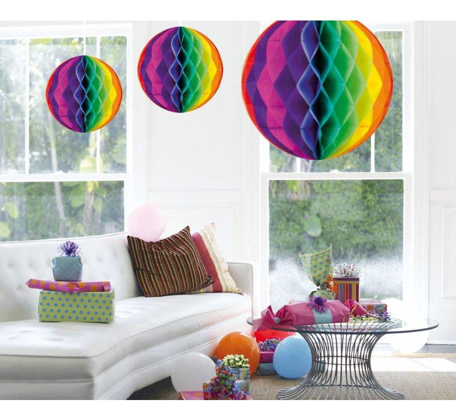 Honeycomb Bal Multicolor XL 50 cm - per stuk