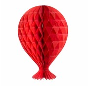 Honeycomb Ballon Rood 37cm - per stuk