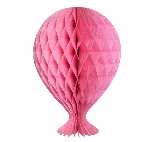 Honeycomb Ballon Baby Roze 37cm - per stuk