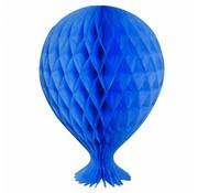Honeycomb Ballon Blauw - per stuk