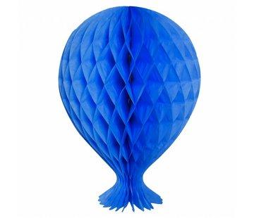 Honeycomb Ballon Blauw 37cm - per stuk