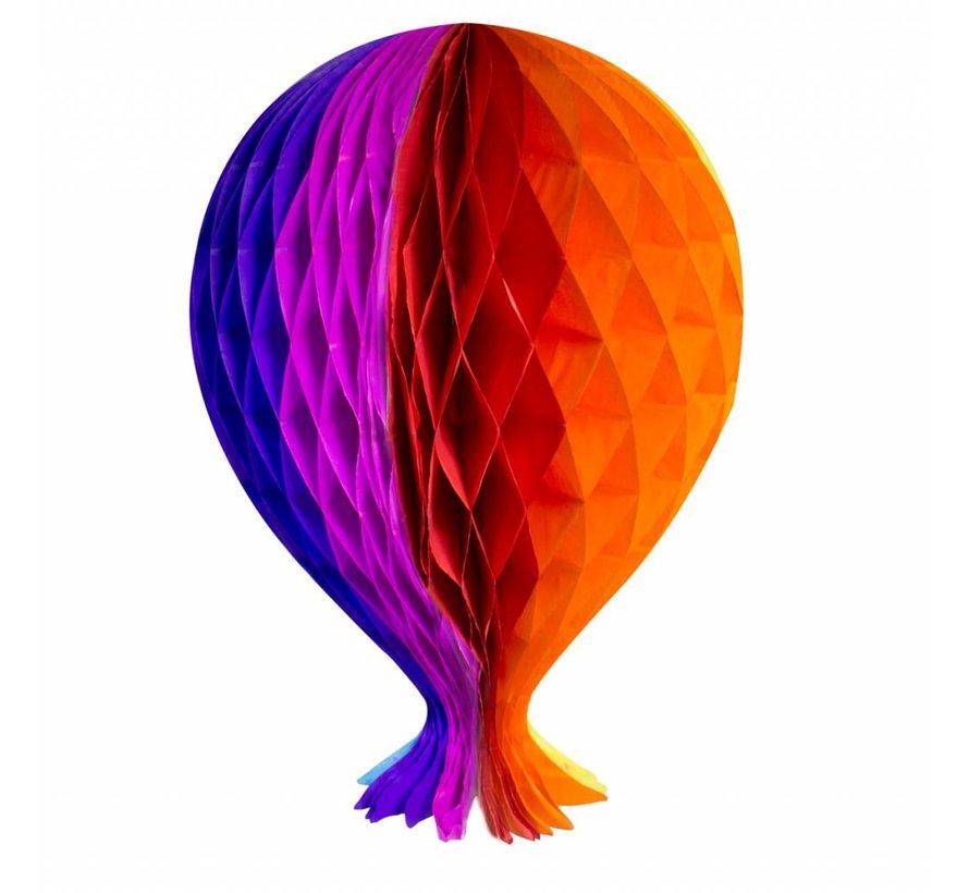 Honeycomb Ballon Multicolor 37cm - per stuk
