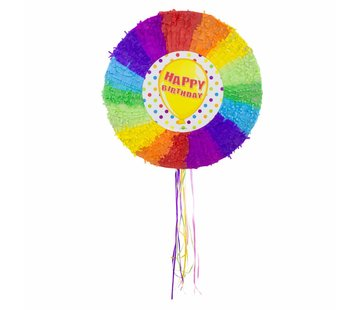 Piñata Happy Birthday Ballon 48cm - per stuk