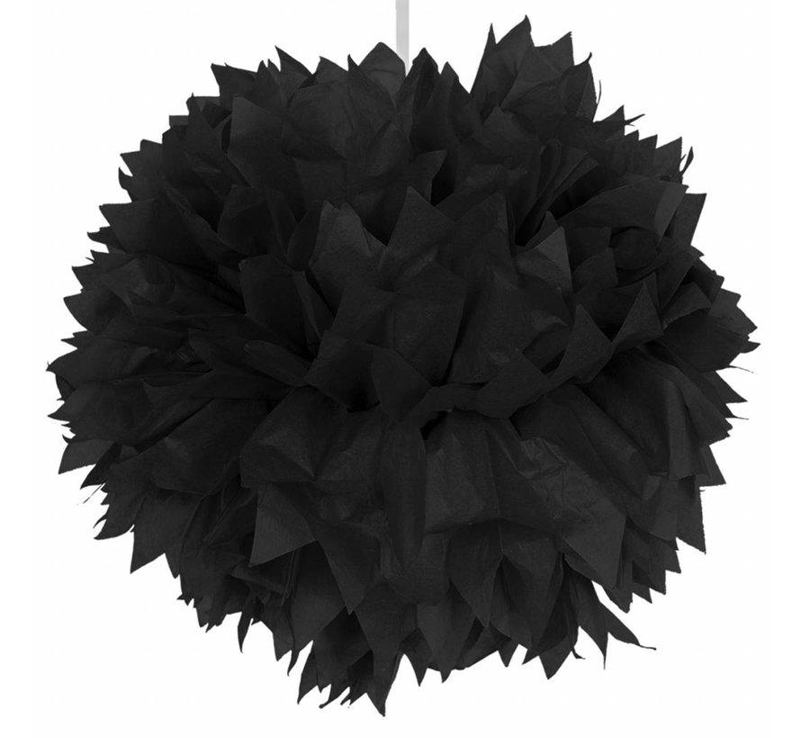 Pompom Zwart 30 cm - per stuk
