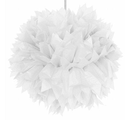 Pompom Wit 30 cm - per stuk