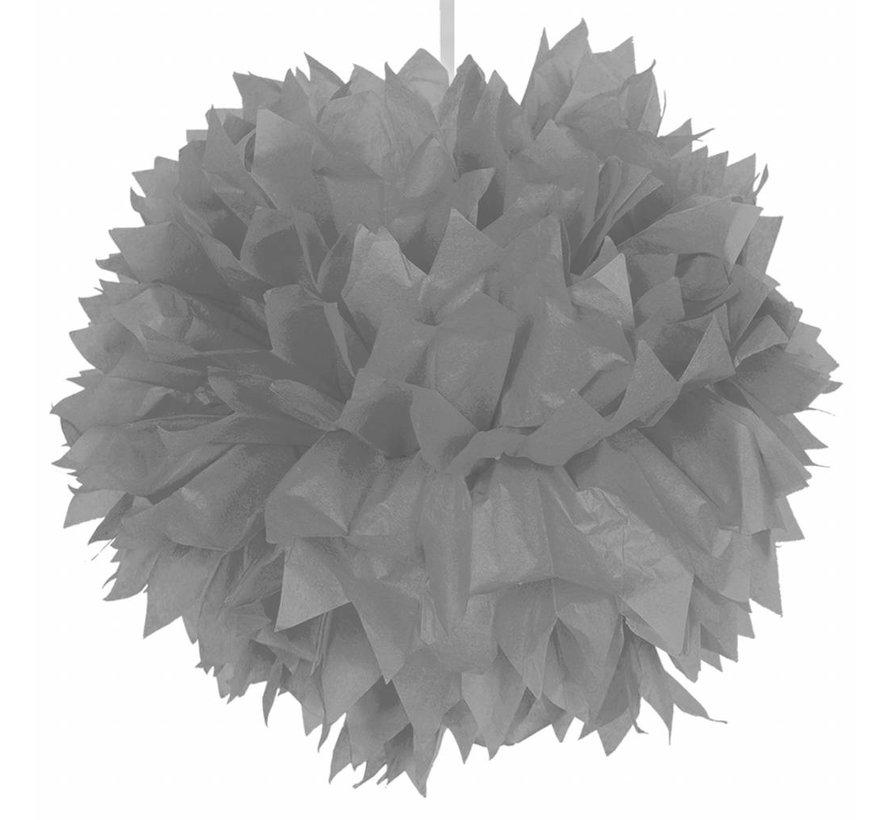 Pompom Zilver - per stuk