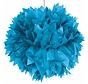 Pompom Azuur Blauw - per stuk