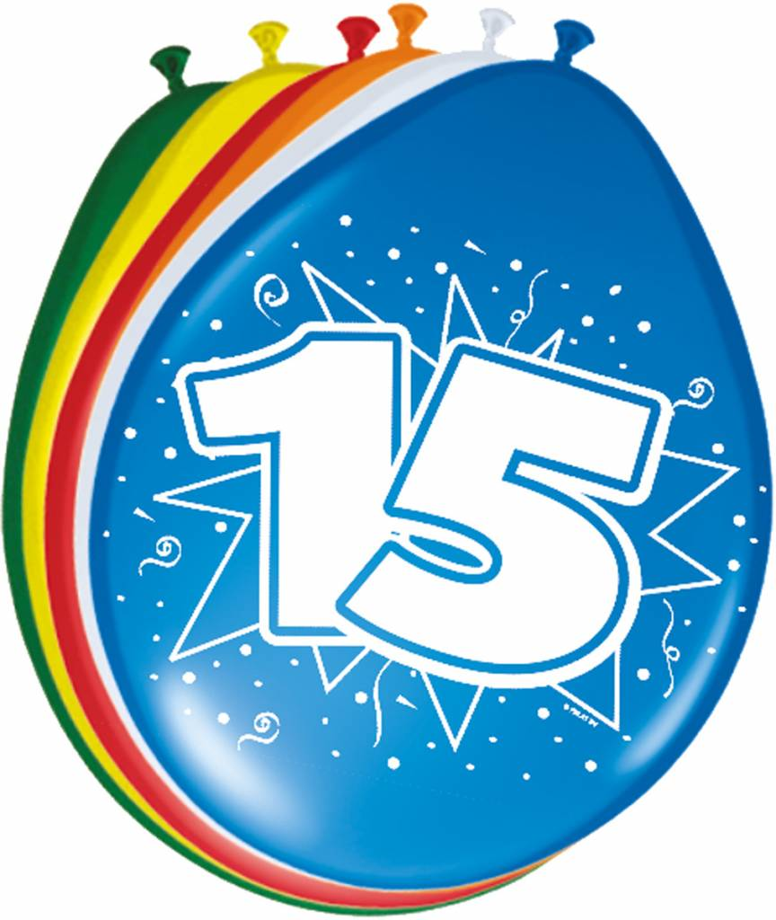 Verjaardag versiering 15 jaar