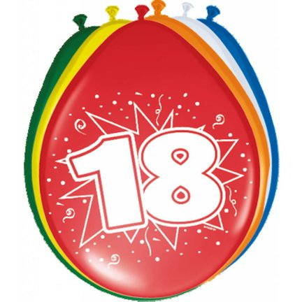 Goedkoop verjaardag versiering 18 jaar online kopen