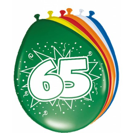 Goedkoop verjaardag versiering 65 jaar kopen