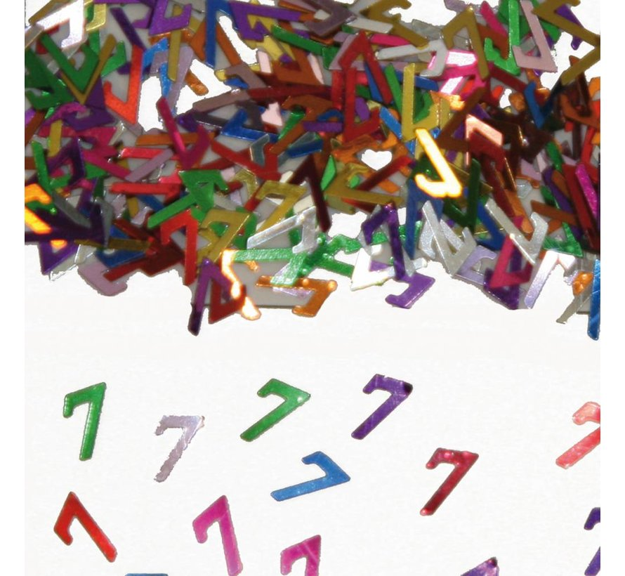 Confetti 7 Jaar Multicolor