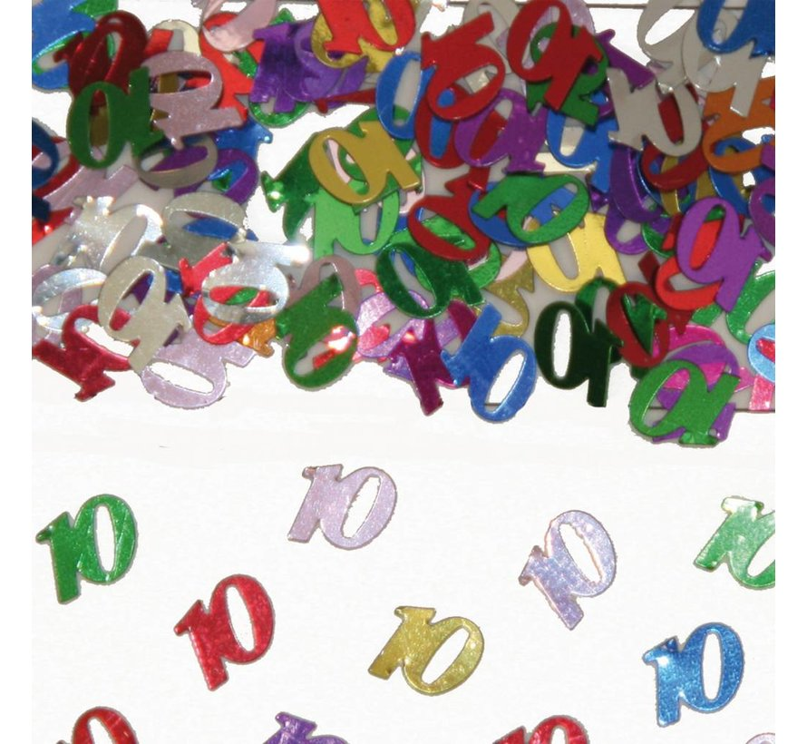 Confetti 10 Jaar Multicolor
