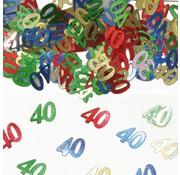 Confetti 40 Jaar Multicolor