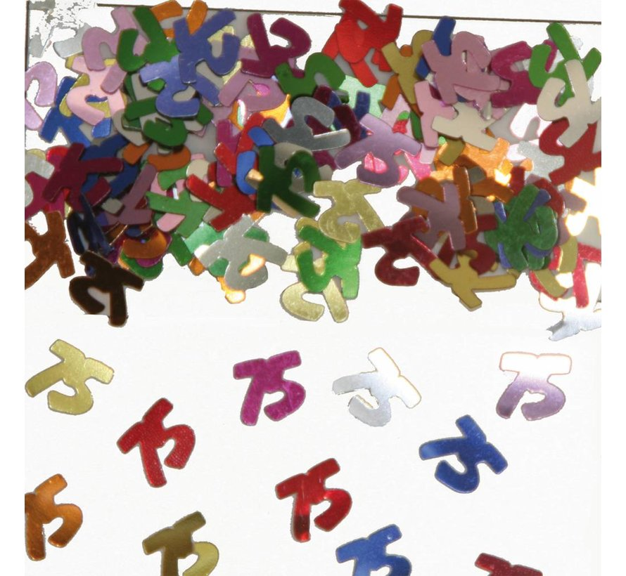 Confetti 75 Jaar Multicolor