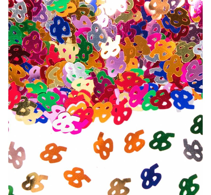 Confetti 85 Jaar Multicolor
